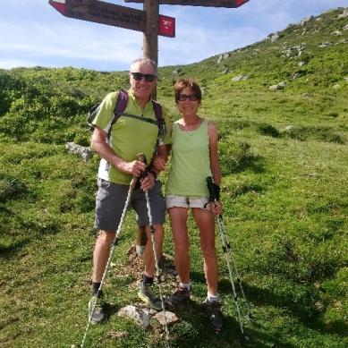 Alain et Yveline en randonnée